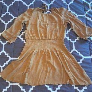 Kimchi Blue [UO] Mustard Summer Dress
